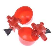 Красный автоматическая поилка для перепёлок кормушка для животных Автоматическая клетка для птицы для корма птицы для кур, домашней птицы курицы поилка
