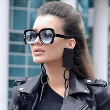 Square Nail Large-framed  Sunglasses Luxury Brand Designer Women Shade Vintage Green Red Sun Glasses Female Goggle Eyewear UV400
