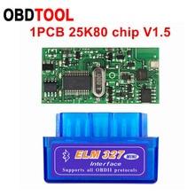 10 sztuk V2.1 V1.5 MINI ELM327 Bluetooth ELM 327 wersja 1.5 z PIC18F25K80 Chip OBD2 / OBDII dla androida Torque samochodowy skaner kodów usterek