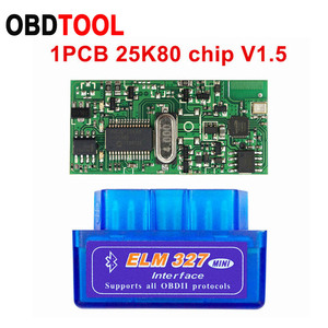 Image 1 - 10 sztuk V2.1 V1.5 MINI ELM327 Bluetooth ELM 327 wersja 1.5 z PIC18F25K80 Chip OBD2 / OBDII dla androida Torque samochodowy skaner kodów usterek
