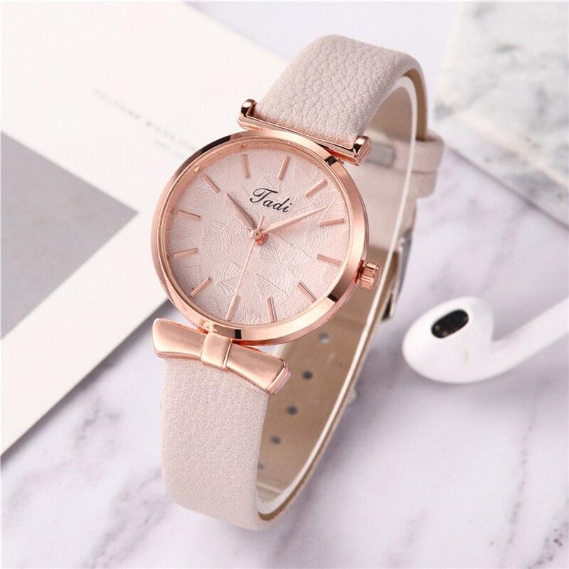 Casual Leather Bracelet Wrist Watch For Women Stylish Fashion White Alloy Analog Quartz Ladies Watch Relojes Relogio Feminino