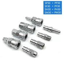 C typ Schlauch Schnell stecker PP30 SP30 PF30 SF30 PH30 SH30 PM30 SM30 Pneumatische fitting Conector del compresor de aire
