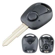 2 Buttons Car Key Fob Case Shell Replacement Remote Cover Fit for SSANGYONG ACTYON KYRON REXTON