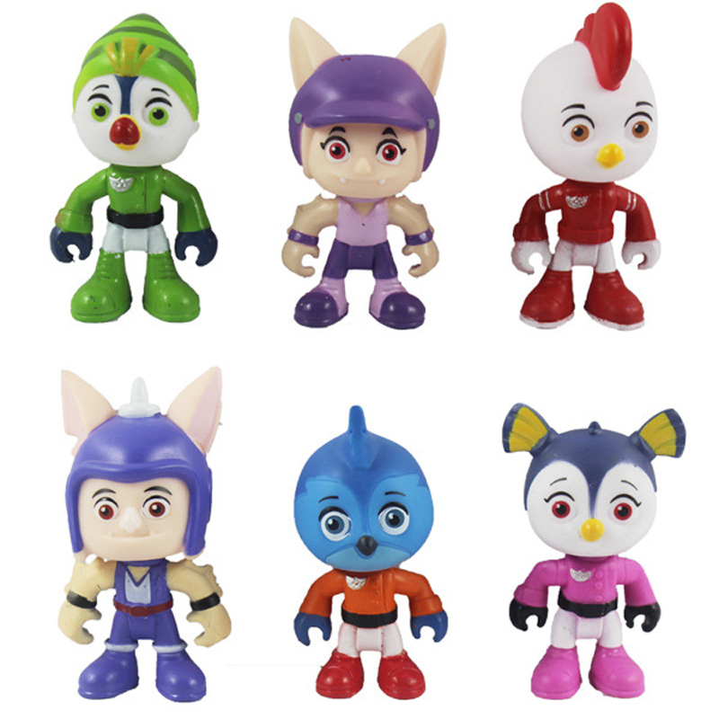 Top Wing Patrol Figure Juguetes 7cm PVC Cartoon Model <font><b>Toys</b></font> for Kids image