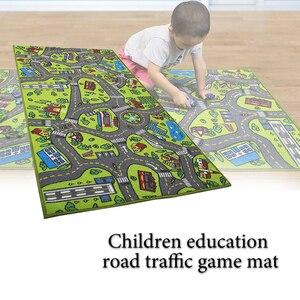 Image 5 - ילדי כביש תנועה משחק מחצלת שמיכת עיר ירוק כביש ילד לשחק מחצלת שטיח עבור תינוק זחילה שמיכת רצפת שטיח שטיח מחצלת