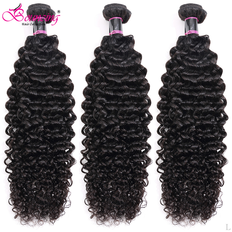 Bouncing India Big Kinky Curly Hair Bundles Remy Human Hair Extensions Nature Color Buy 1/3/4 Bundles Thick Curly Hair Weft