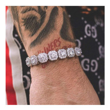 Hip Hop Jewelry 10mm Clustered Iced Out Tennis Necklaces and Bracelets KRKC&CO