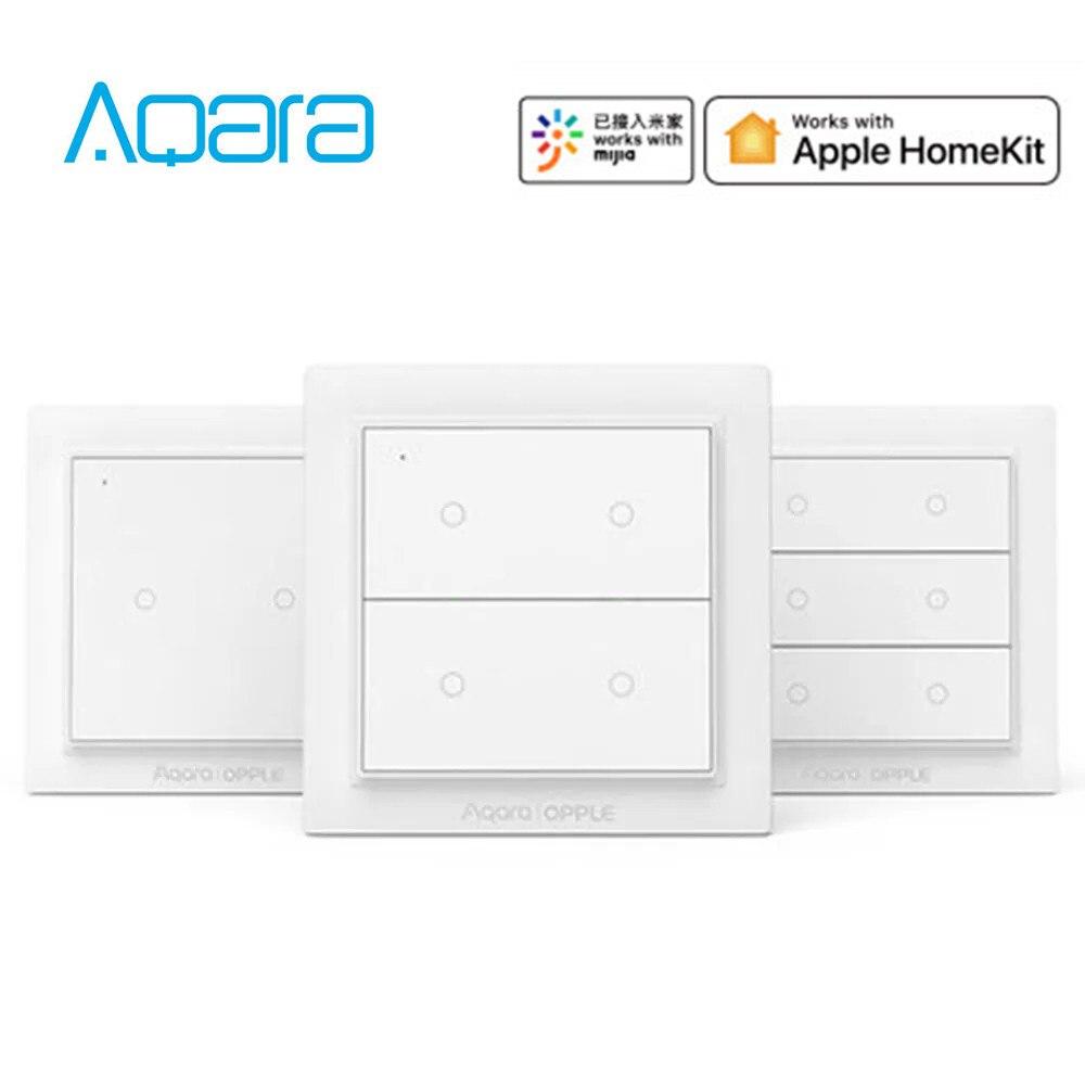 Xiaomi Mijia Aqara OPPLE Wireless International Version Smart Switch Work With Mi Home App For Apple HomeKit (Xiaomi Eco-System)