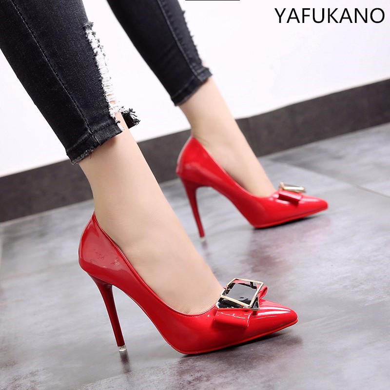 Women Pumps Patent Leather High Heels