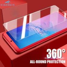 360 capa completa caso do telefone para huawei y9s y6s y9 s y6 s vidro temperado capa protetora para honor 6c pro 6x 20s MAR-LX1H pára-choques