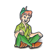 Peter Pan Zinc alloy tie pins badges para shirt bag clothes cap backpack shoes brooches medal decorations for men or women E0365