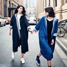 Осень 2020 Новое Женское повседневное Свободное пальто до колена