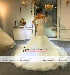 Image 2 - Vestido de novia de sirena sin hombros, mangas largas, nupciales, 2020