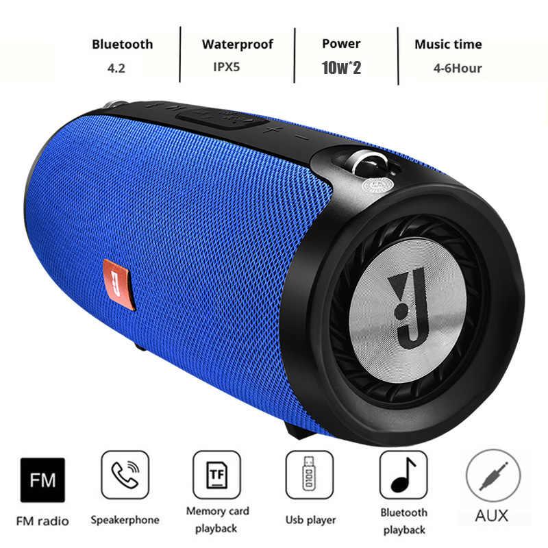 Ini Portabel Bluetooth Nirkabel Silinder Speaker Stereo Daya Tinggi 20W Sistem TF FM Radio Audio Subwoofer Speaker Komputer