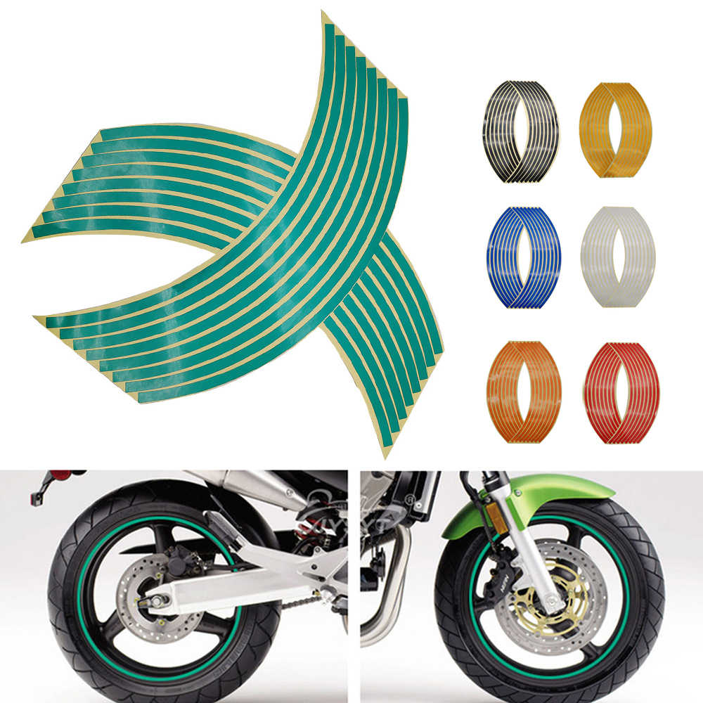 Adhesivo para rueda de motocicleta, cinta reflectante de llanta 3D, cintas adhesivas para Yamaha MT 03 25 YBR 125 YZF R15 XT660 TMAX 500 530 XP500