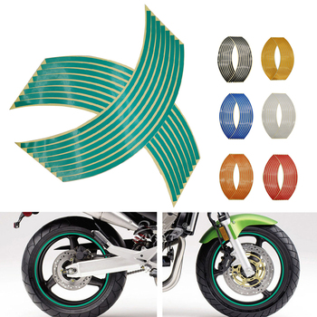 Motorcycle Wheel Sticker 3D Reflective Rim Tape Auto Decals Strips For Yamaha MT 03 25 YBR 125 YZF R15 XT660 TMAX 500 530 XP500 image