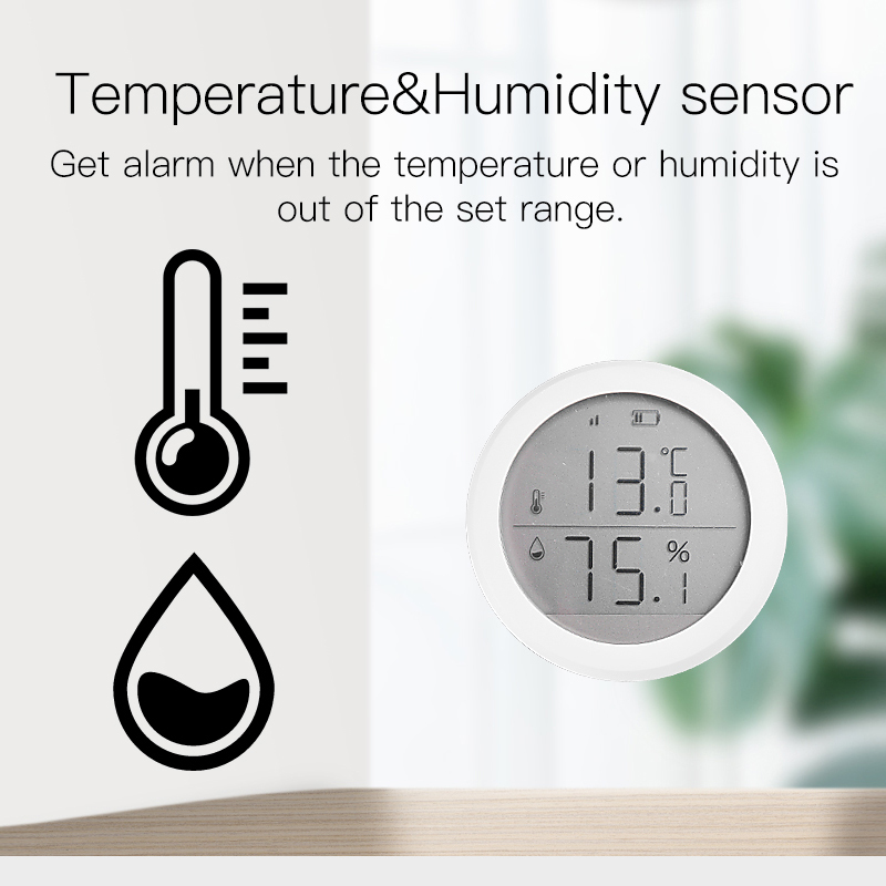 Tuya Zigbee Kit Gas Smoke  Water PIR Sensor Door Sensor Temperature And Humidity Sensor Home Automation Scene Security Alarm Kit