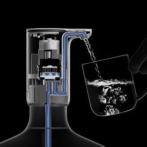 Image 3 - Портативный автоматический диспенсер для воды Youpin Sanjie, Электрический водяной насос, универсальная бутылка для галлонов, кнопка переключения, USB зарядное устройство