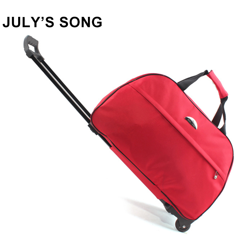 JULY'S SONG oxford Rolling Luggage Bag Travel Suitcase With Wheels Trolley Luggage For Men/Women Carry On Travel Bags(China)