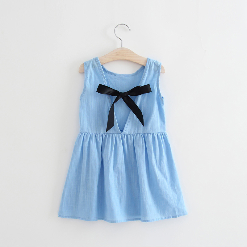 Children Dress Prined Girl Baby Kids Cotton Sleeveless 1-5 Outfits