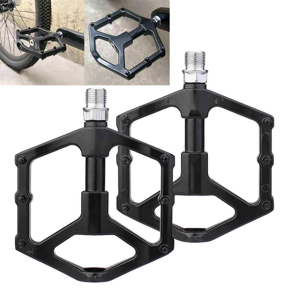 Gold Bike Pedals 1 Pair Aluminium Alloy Mountain Bike Road Bicycle Lightweight Pedals Replacement Accessory