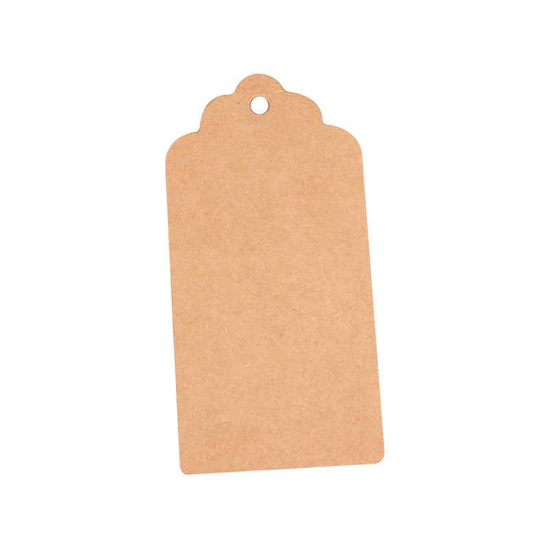3x5cm 크 래 프 트 종이 레이블 웨이브 머리 빈 교수형 태그 빈 카드와 베이킹에 대 한 수 제 레이블 종이 레이블 카드 선물 가격 목록