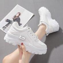 Novos sapatos femininos coreanos, calçados esportivos femininos, sapatos casuais, sapatos de corrida aumentados de sola grossa