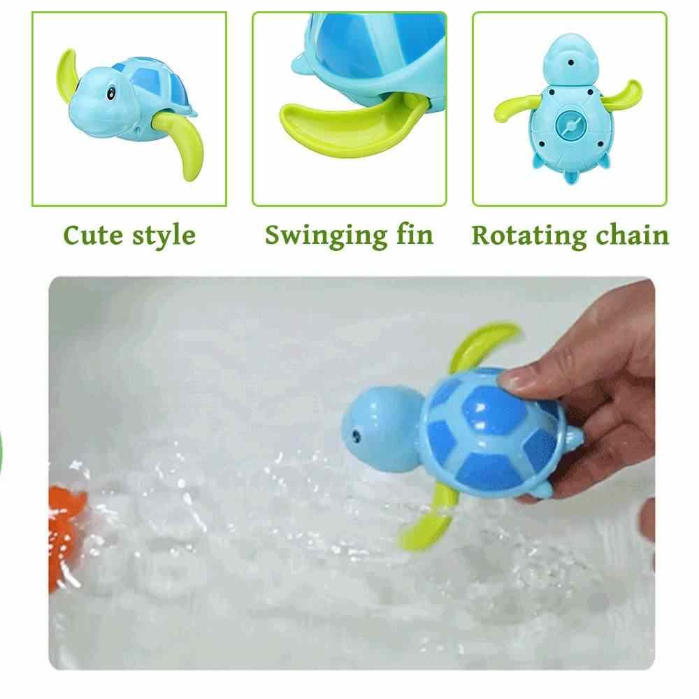 ของเล่นน้ำของเล่นเต่าอาบน้ำของเล่นของเล่นเด็กสระว่ายน้ำสระว่ายน้ำอ่างสัตว์ของเล่นเด็ก Swim Clockwork จัดส่งฟรี jouet bain