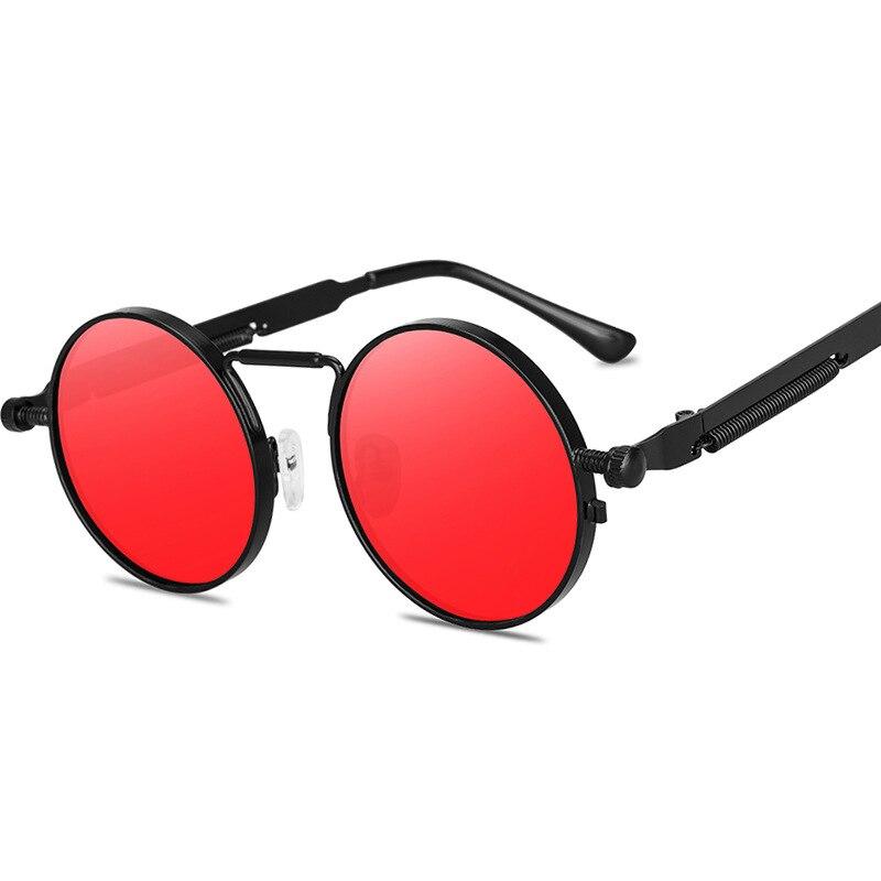2020 new Vintage Men Sunglasses Women Retro Punk Style Round Metal Frame Colorful Lens Sun Glasses Fashion Eyewear Gafas sol