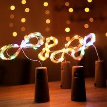 Guirlande lumineuse pour bouteille de vin, décoration d'arbre de noël pour la maison, 2020, cadeau de noël, bonne année 2021