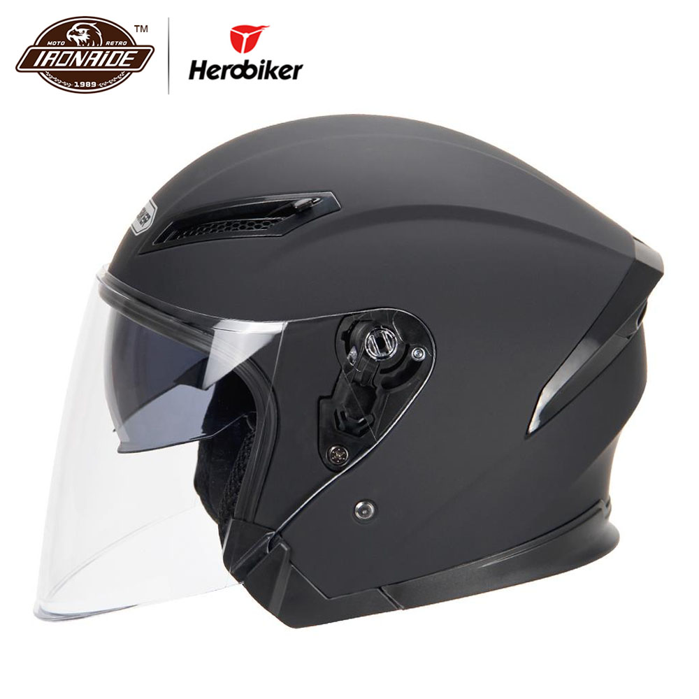HEROBIKER Motorcycle Helmet Motorbike Helmet Motocross Casco Moto Helmet For Motorcycle 3/4 Face Cascos Para Moto