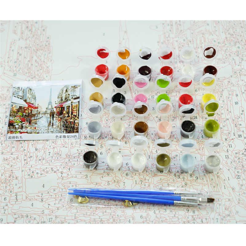 Dropshipping 50x65cm Malerei Durch Zahlen DIY Schnee adler Tier Wand Kunst Bild Acryl Malerei Für Hochzeit Dekoration