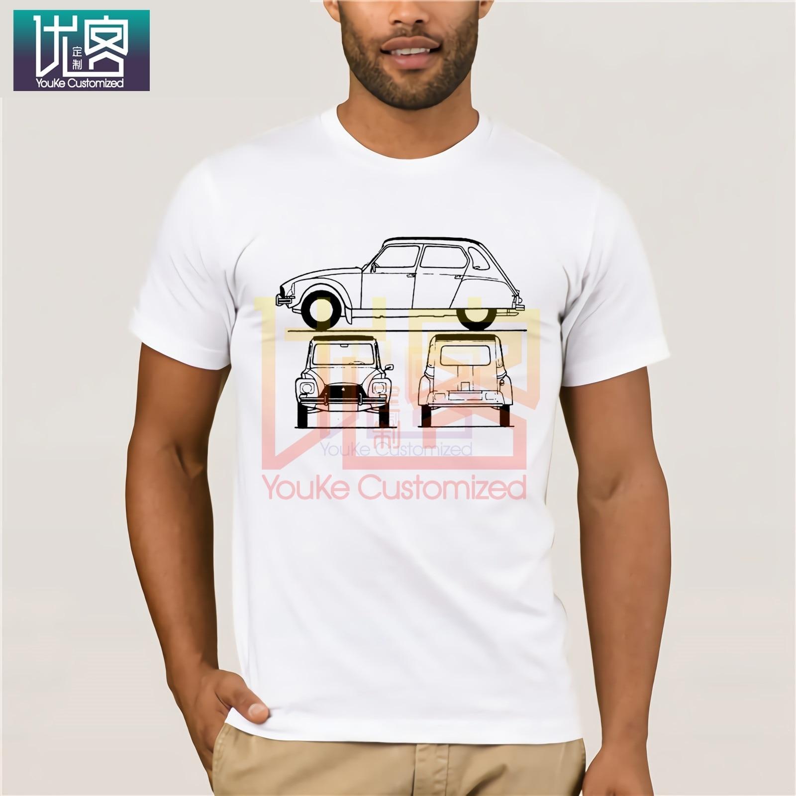 Citroen Dyane 1979, camiseta Retro clásica para hombre, con estampado de Blueprint, camiseta francesa, Guevara, lo último en camisetas simples de 2020 para hombre