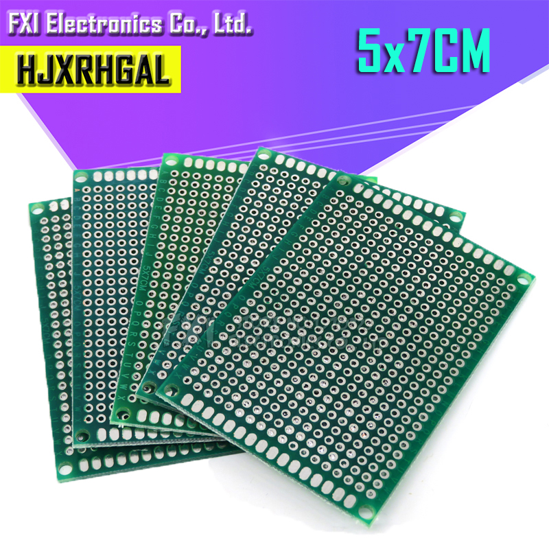 5pcs 5x7cm 5*7 Double Side Prototype PCB Diy Universal Printed Circuit Board  Igmopnrq