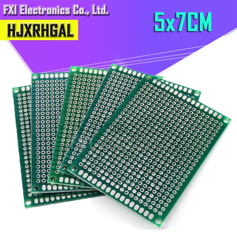 5pcs 5x7cm 5*7 Double Side Prototype PCB Diy Universal Printed Circuit Board  Igmopnrq