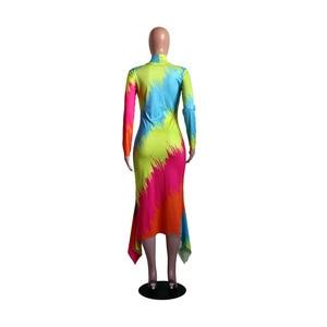 Image 5 - فساتين الأفريقية للنساء أنيقة الاسلوب المناسب المرأة الأفريقية بالإضافة إلى حجم البوليستر فستان طويل ماكسي