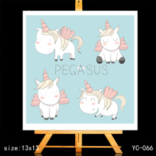 ZhuoAng Unicorn Clear Stamps/Card Making Holiday decorations For  scrapbooking Transparent stamps 13*13cm