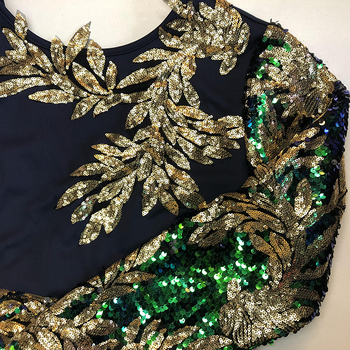 Vintage Green Long Sleeve Mermaid Sequins Dress Sparkly Elegant Plus Size Shiny Party Evening African Long Dresses for Women 6
