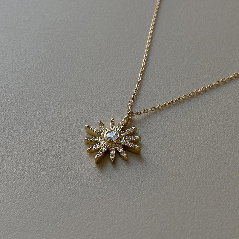 GHIDBK Dainty S925 Silver Cubic Zirconia Star Pendant Necklaces Demo Hexagram Charm Chokers Trendy Minimalist Collars Necklace