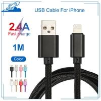 1M Usb Kabel Für iphone 11 12 Pro Max XS XR X 8 6s 7 Plus Schnelle Lade kabel Für iPad Mini 2,4 EIN Test Gut