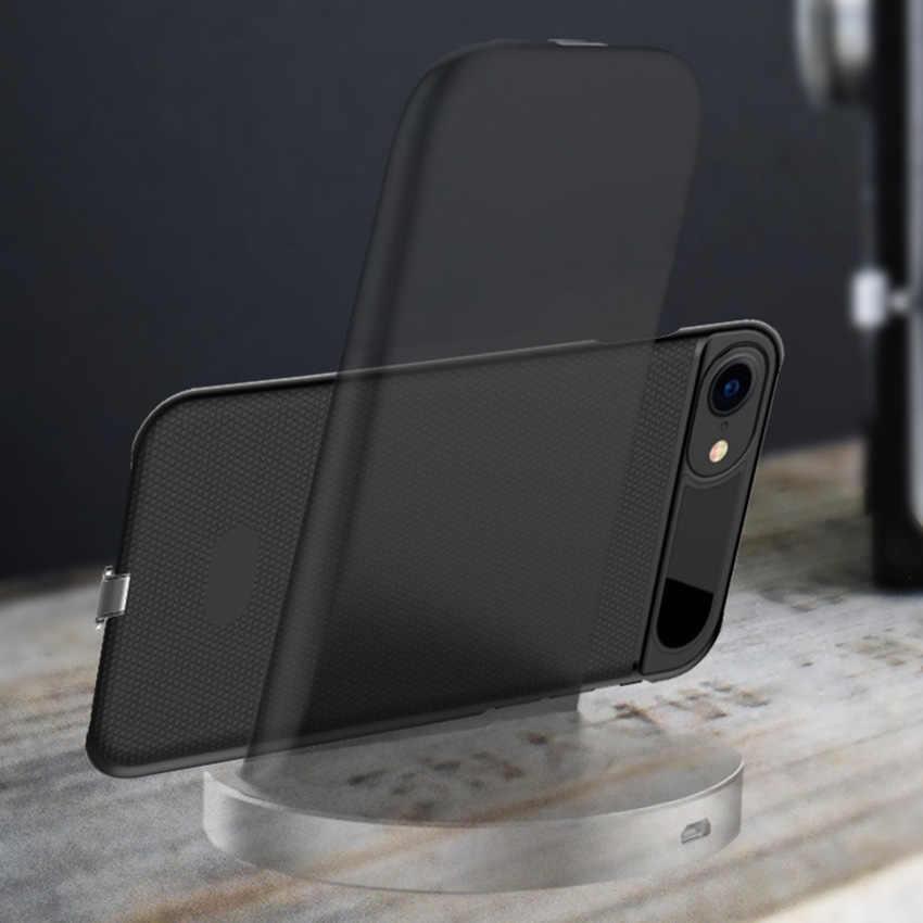 Cargador inalámbrico Wifi QI receptor funda para iphone 7 7Plus carcasa de receptor de carga inalámbrica ultrafina antideslizante Simple
