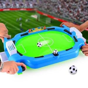 Мини настольная машина для подачи футбольных мячей доска интерактивная игра Футбол Спорт 2 игрока матч Вечерние игры Развивающие игрушки д...