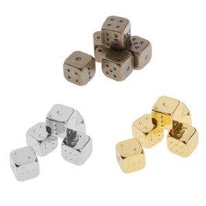 5 шт. 12 мм шестигранные кубики D6 из цинкового сплава, многогранные кубики для ролевых игр, DND RPG MTG, настольные игровые принадлежности, аксессу...