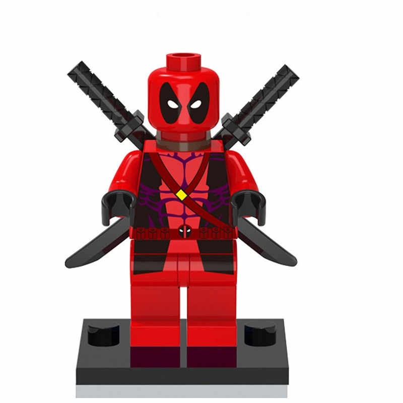 Single Sale Red Deadpool MINIFIG DC Figures Building Blocks Super Heroes Bricks Models Kids Gifts