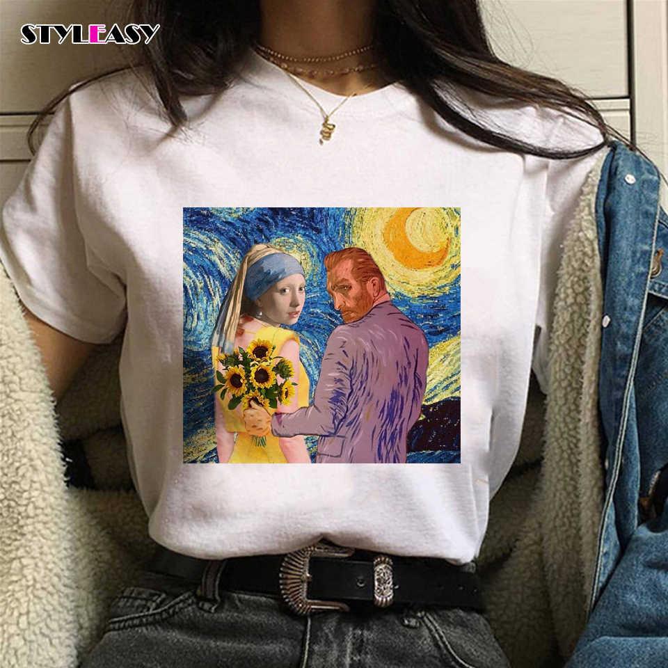 夏新原宿ヴィンテージ Tシャツアーティストレタープリントおかしい美学 Tシャツヴォーグかわいいトップス