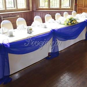 Image 5 - 5Pcs/Lot 5M*1.4M Top Table Organza Swag Sheer Organza Fabric DIY Material Wedding Party Banquet Table Top Stair Decor