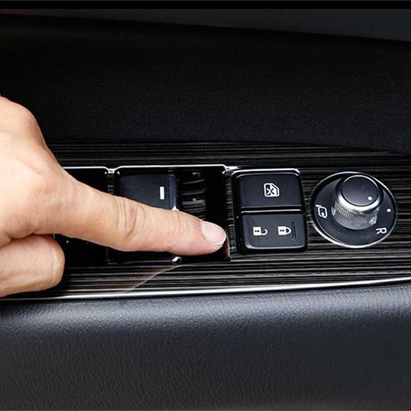 1 Set per il 2017 2018 2019 Mazda Cx-5 Cx5 Kf Con Guida A Sinistra della Finestra di Automobile Interruttore Sul Pannello + Auto Scatola Del Cambio pannello di Copertura Sticker Trim Strisce Garn