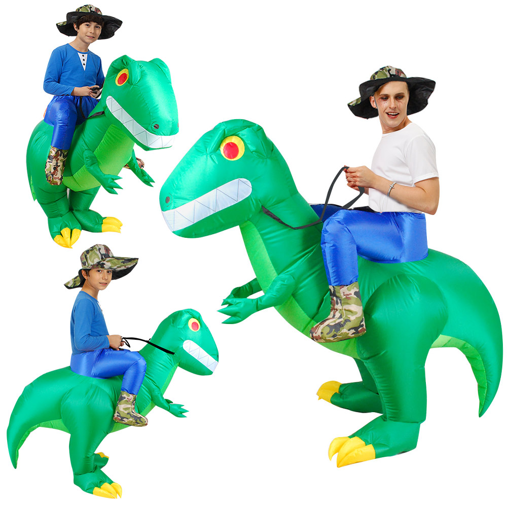 Inflatable Adult//Child Riding Dinosaur T-Rex Fancy Costume Dress Party Halloween