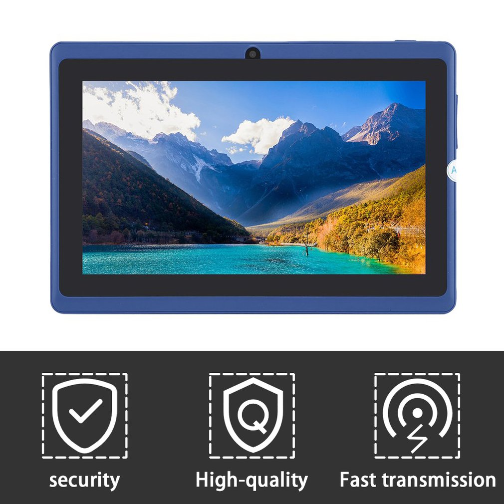 7inch Quad Core Android 4.4 Kids Tablet Pc Q8 Q88 Flashlight Allwinner 512M 8GB Bluetooth HD 1024*600 Tablets Dual Camera Wifi