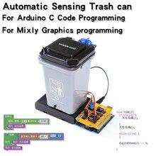 Kit de papelera automática Robot UNO R3 Diy para niños, Kit de programación, bricolaje